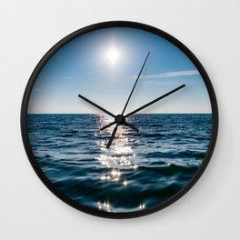 Marble Wave Sunshine Wall Clock