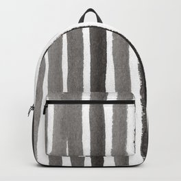 Grey Stripe Abstract Painting Backpack