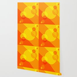 Orange Spheres Abstract Wallpaper