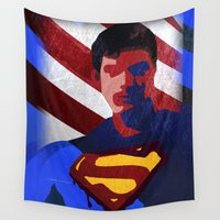 superman Wall Tapestries featuring Superman by Scar Design
