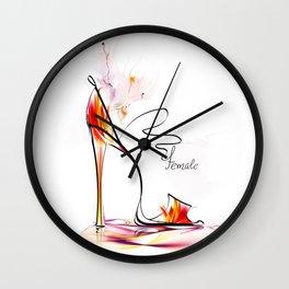 high heel Wall Clock