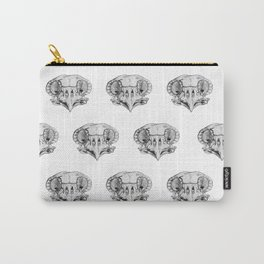 Owl Skull sketch study Carry-All Pouch