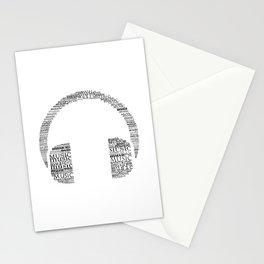 Typographic headphone Stationery Cards