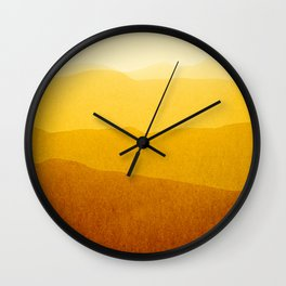 gradient landscape - sunshine edit Wall Clock