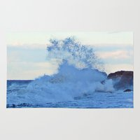 geology Area & Throw Rugs featuring Exploding Surf  by DanByTheSea
