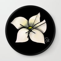 transformer Wall Clocks featuring Fragrant by ShaylahLeigh