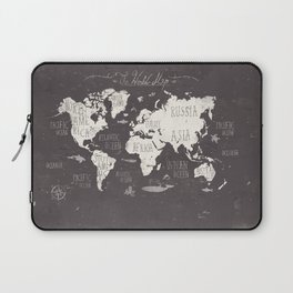 The World Map Laptop Sleeve