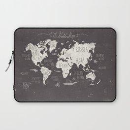 The World Map Laptop Sleeve