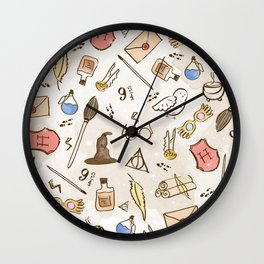 Wizarding Pattern Wall Clock