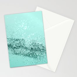 Summer Vibes Glitter #7 #mint #shiny #decor #art #society6 Stationery Cards