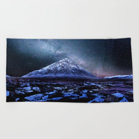 Milky Way Mountain Beach Towel