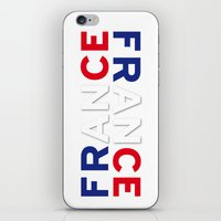 france iPhone & iPod Skins featuring France by CHR Design Posters