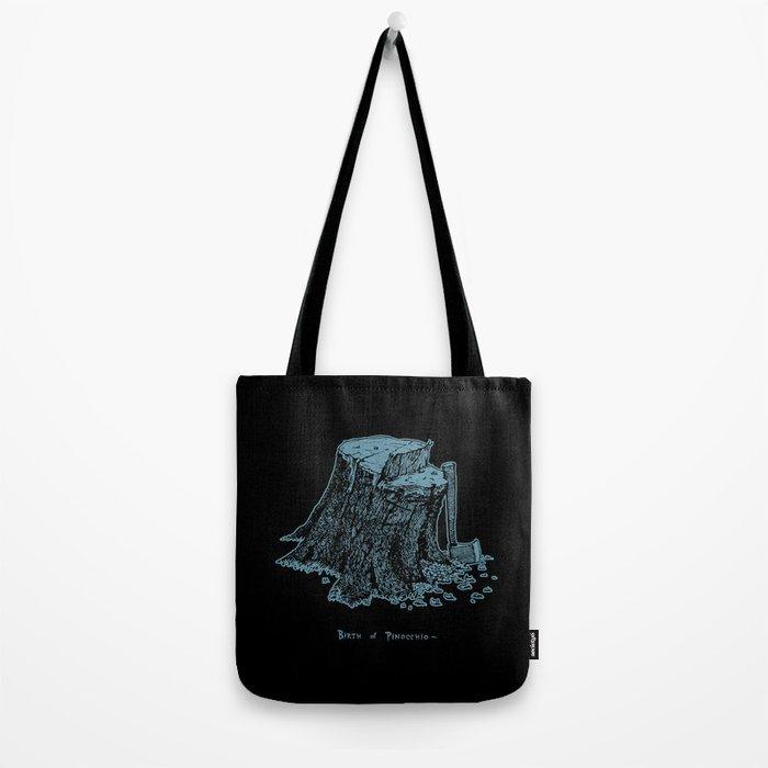 Birth of Pinocchio (black version) Tote Bag