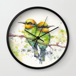 Family (Rainbow Bee Eaters) Wall Clock