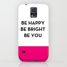 Be Happy Be Bright Be You - Kate Spade Inspired Galaxy S5 Slim Case