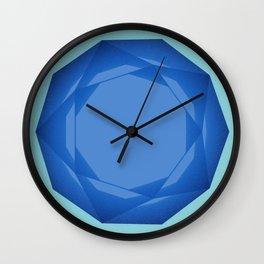 Blue Gem Wall Clock