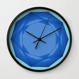 Blue Gem Wall Clock