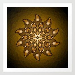 Pure gold mandala Art Print