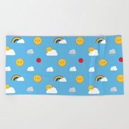 Kawaii Skies Beach Towel