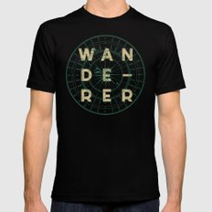 WANDERER Black X-LARGE Mens Fitted Tee