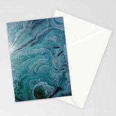 Blue stalactite Stationery Cards