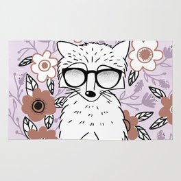 Raccoon in a Garden Rug