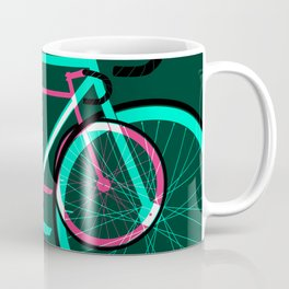 Fixed Gear Road Bikes – Green and Pink Coffee Mug