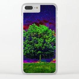 Warped Nature Clear iPhone Case