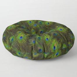 Peacock Feather Plummage Floor Pillow