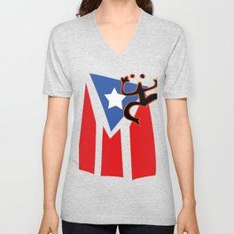 Mi bandera, Puerto Rico Unisex V-Neck