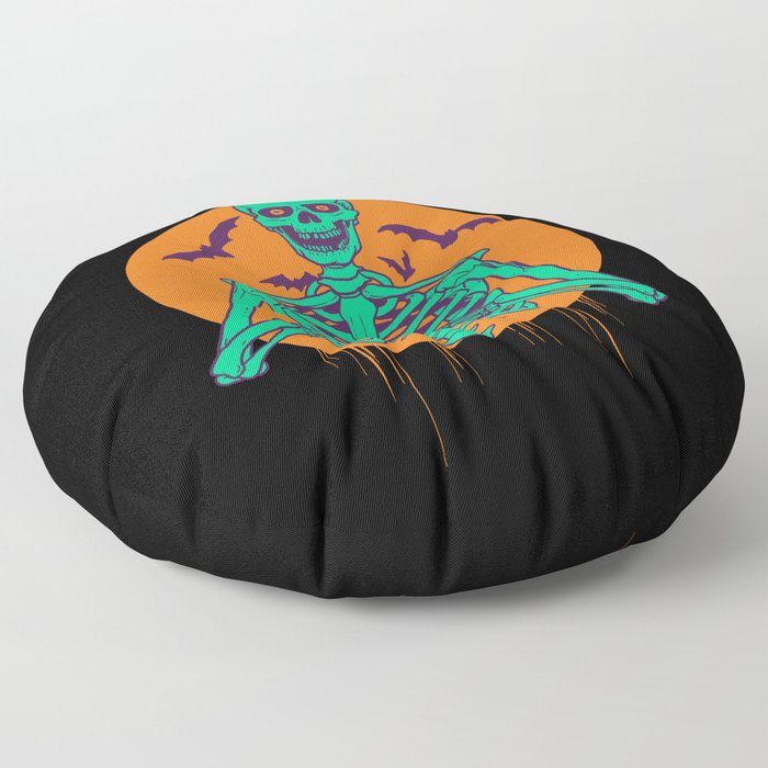 I Love Halloween Floor Pillow