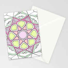 Pink Green Eight Fold Stationery Cards