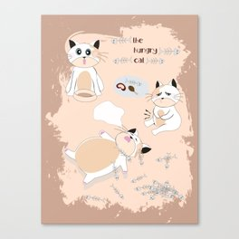 Hungry Cat Canvas Print