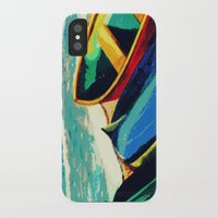 boats iPhone & iPod Cases featuring Boats by Christina Rowe