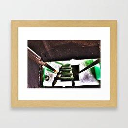 ladder going up or down Framed Art Print