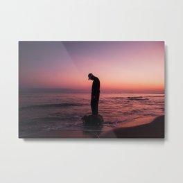 Caribbean beach at sunrise Metal Print