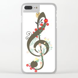 Floral sol key Clear iPhone Case