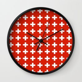 flag of switzerland 2-Switzerland, Alps,swiss,Schweizer,suisse,zurich,bern,geneva Wall Clock