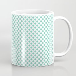 Lucite Green Polka Dots Coffee Mug