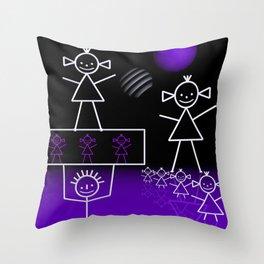stick figures -31- Throw Pillow