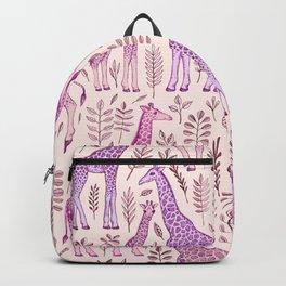 Pink Giraffe Pattern Backpack