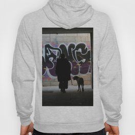 Woman and dog, graffiti Hoody