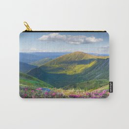 Floral Mountain Landscape Carry-All Pouch