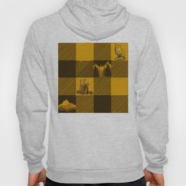 The Fox and The Bear Plaid #1 Yellow Hoody