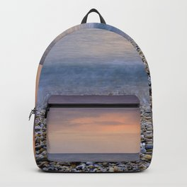 """Serenity sea"". Calm days at the sea Backpack"