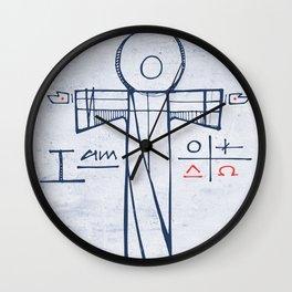 Jesus Christ and symbols Wall Clock