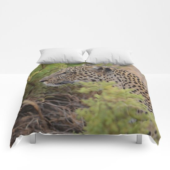 Leopard in the Wild Comforters