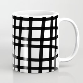 Black and white doodle stripes Coffee Mug