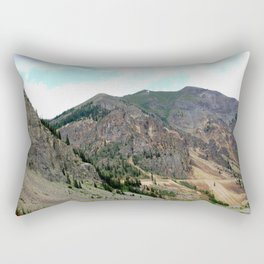 First View of the Eureka Mine, Coming Up the Animas River Rectangular Pillow