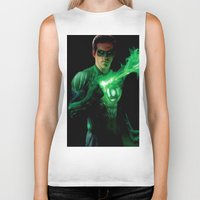 green lantern Biker Tanks featuring Green Lantern by Styleman D